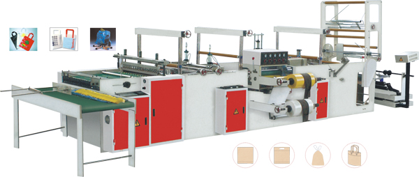 SLH-800自动软手提环热封热切制袋机