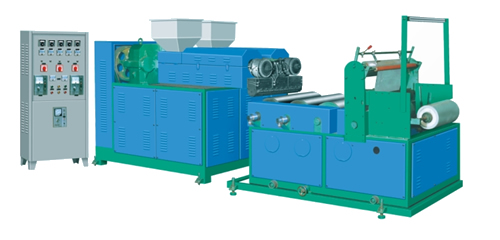 SJ-50x2型共挤流涎膜机(缠绕膜机组)